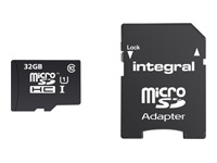 Integral Smartphone and Tablet - carte mémoire flash - 32 Go - microSDHC UHS-I