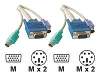Dexlan câble clavier / vidéo / souris (KVM) - 3 m