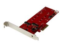 StarTech.com 2x M.2 SSD Controller Card - PCIe - M.2 SATA III NGFF Card - contrôleur de stockage - M.2 Card / SATA 6Gb/s - PCIe 2.0 x2
