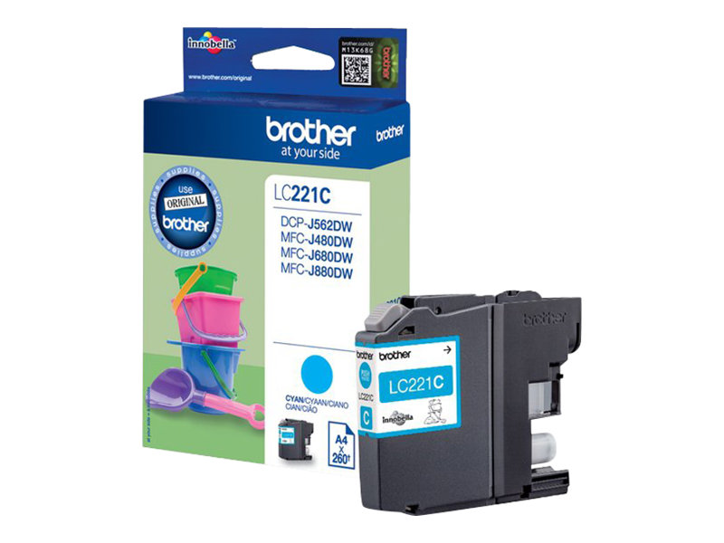 Brother LC221C - cyan - originale - cartouche d'encre