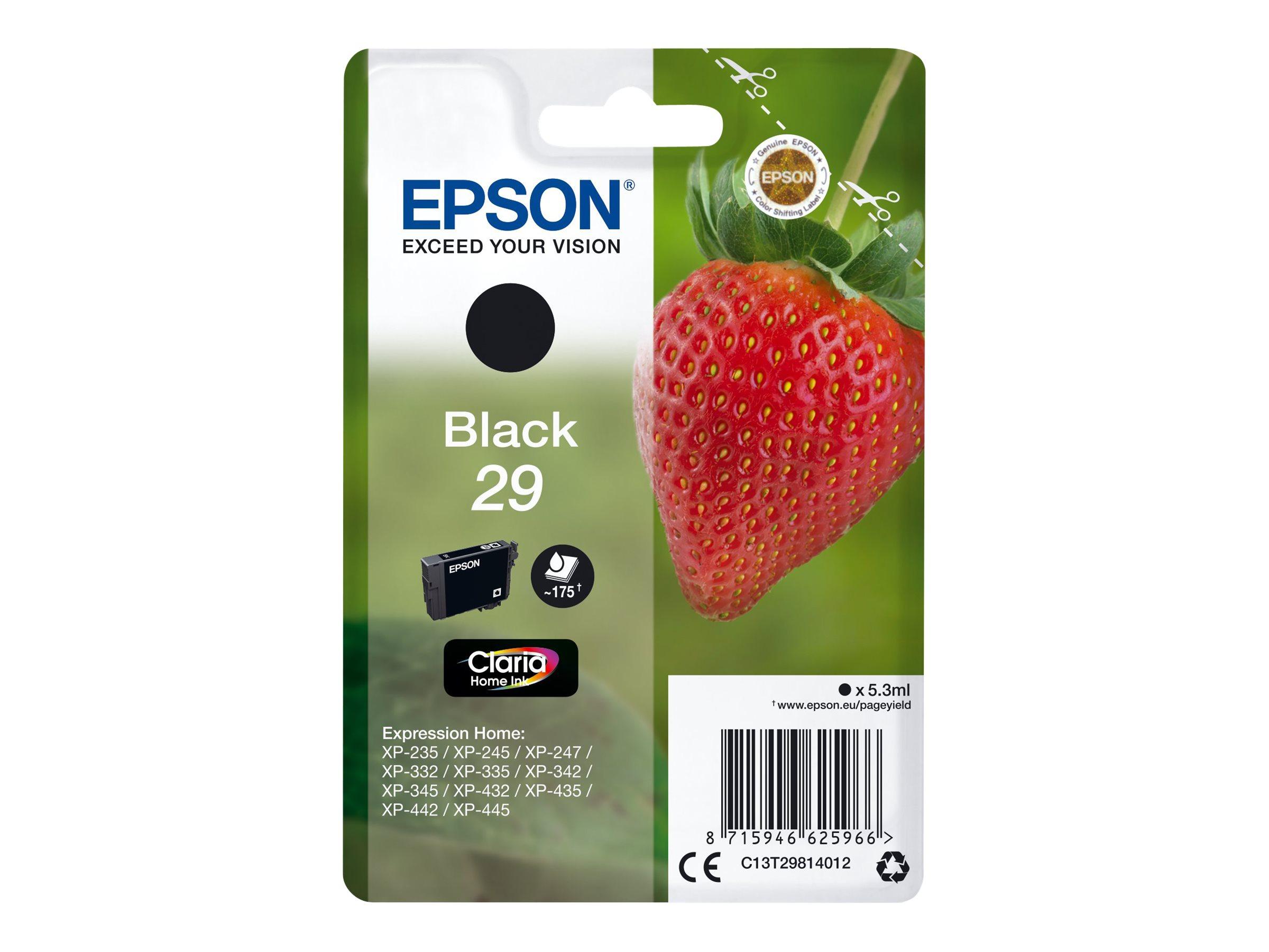 Epson T29 - fraise - noir - originale - cartouche d'encre