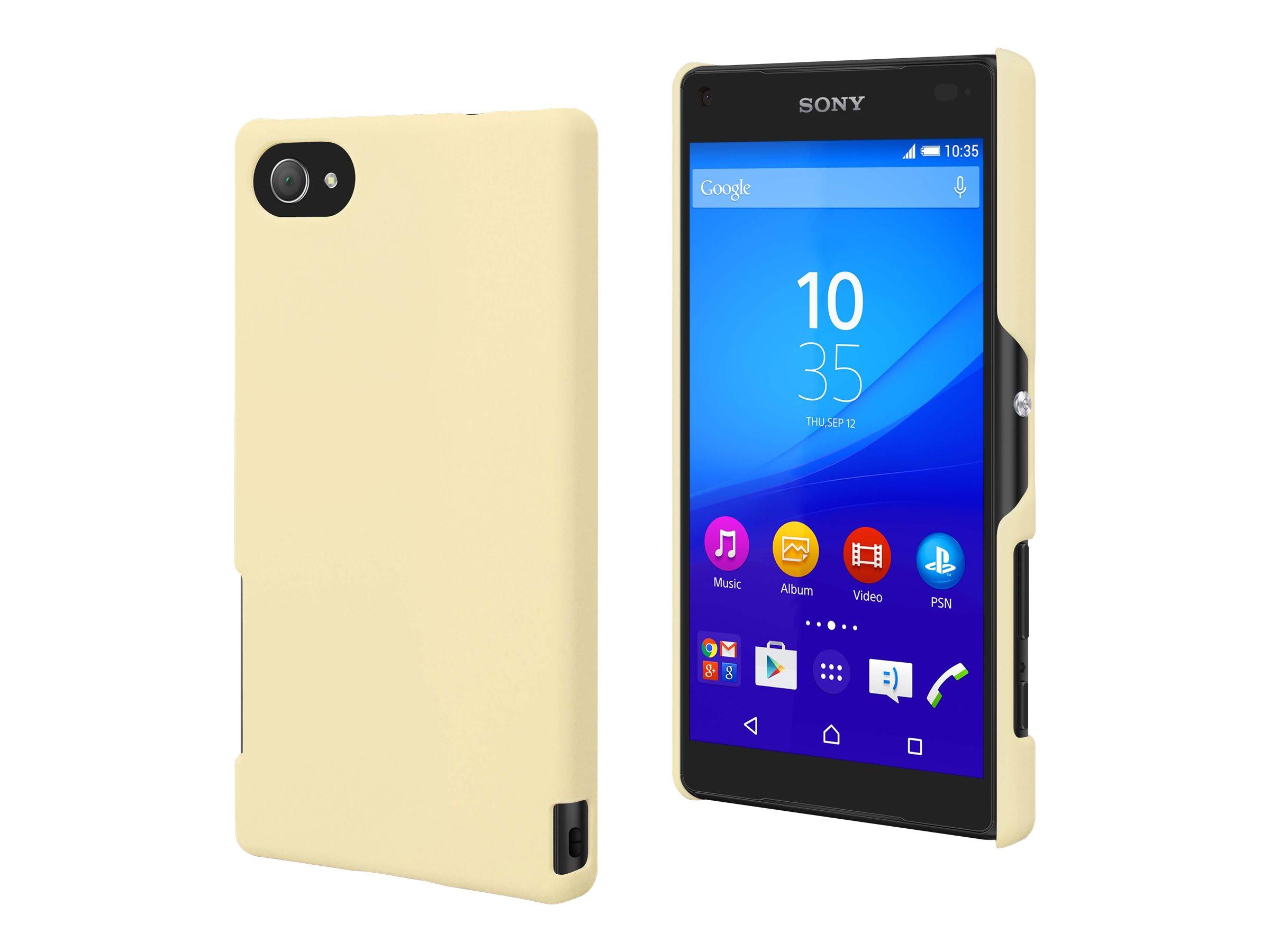 Muvit MFX - Coque de protection pour Sony XPERIA Z5 Compact - jaune clair