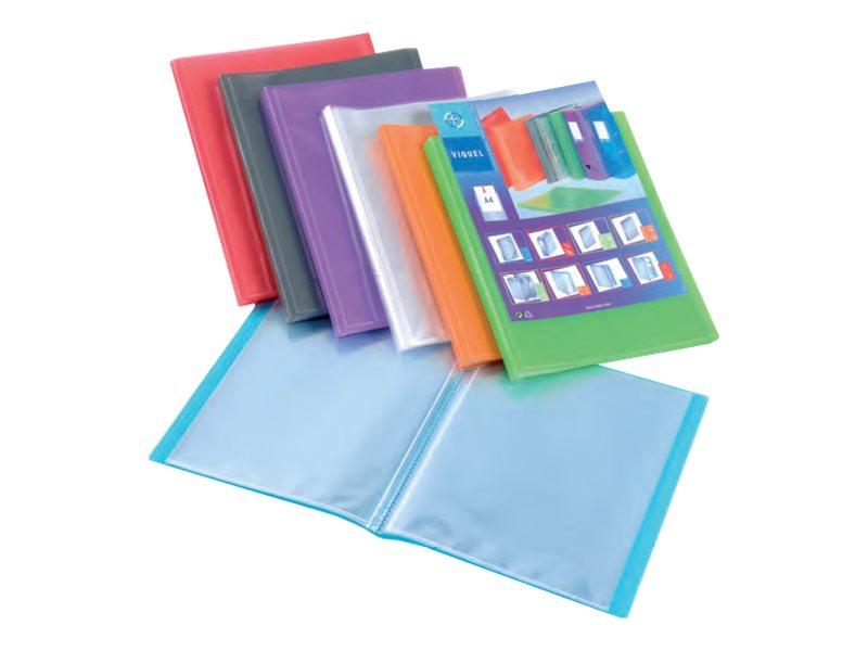 Viquel Propyglass - Porte vuest personnalisable - 40 vues - A4 - couleurs assorties