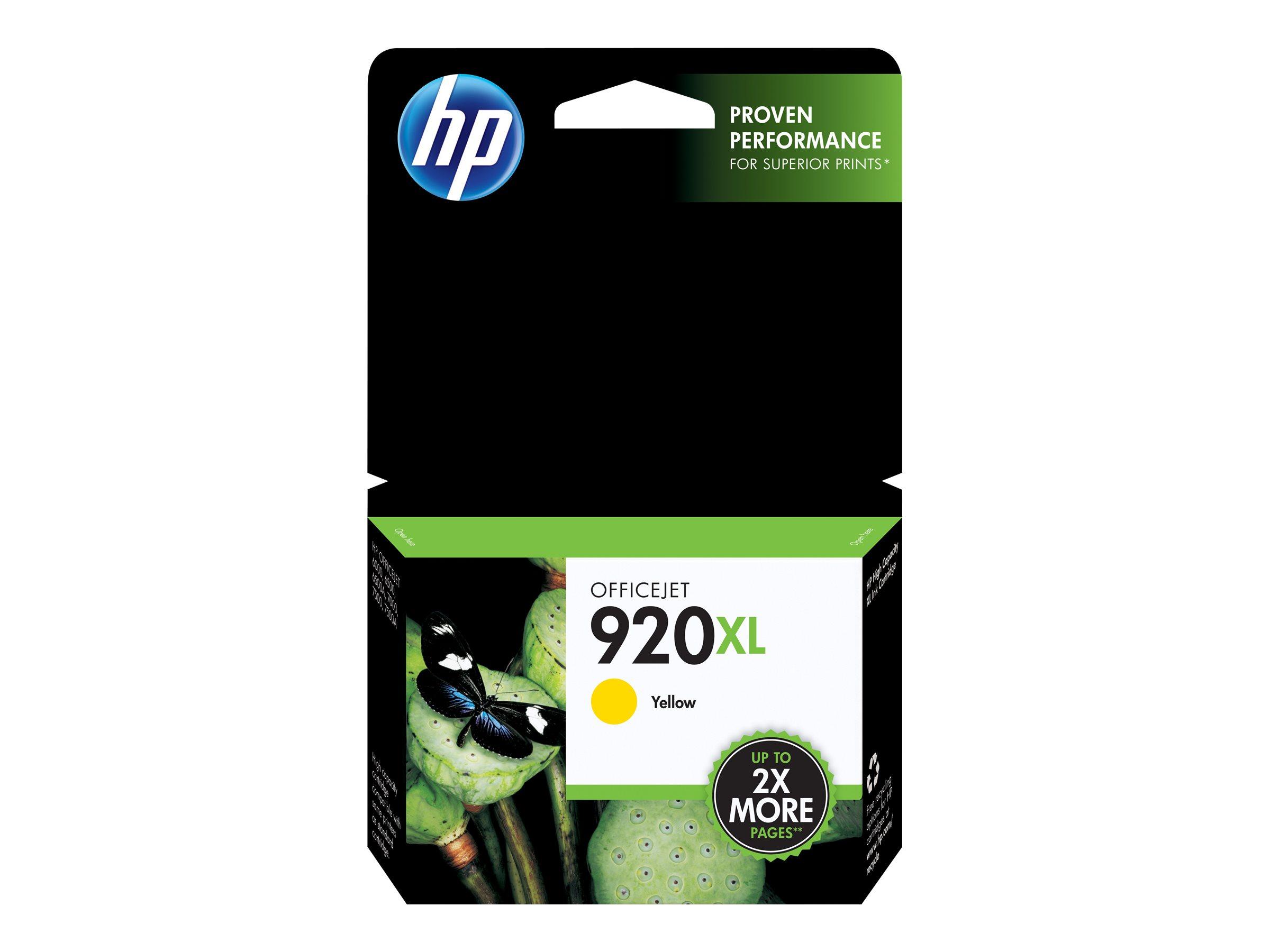 HP 920XL - à rendement élevé - jaune - originale - cartouche d'encre