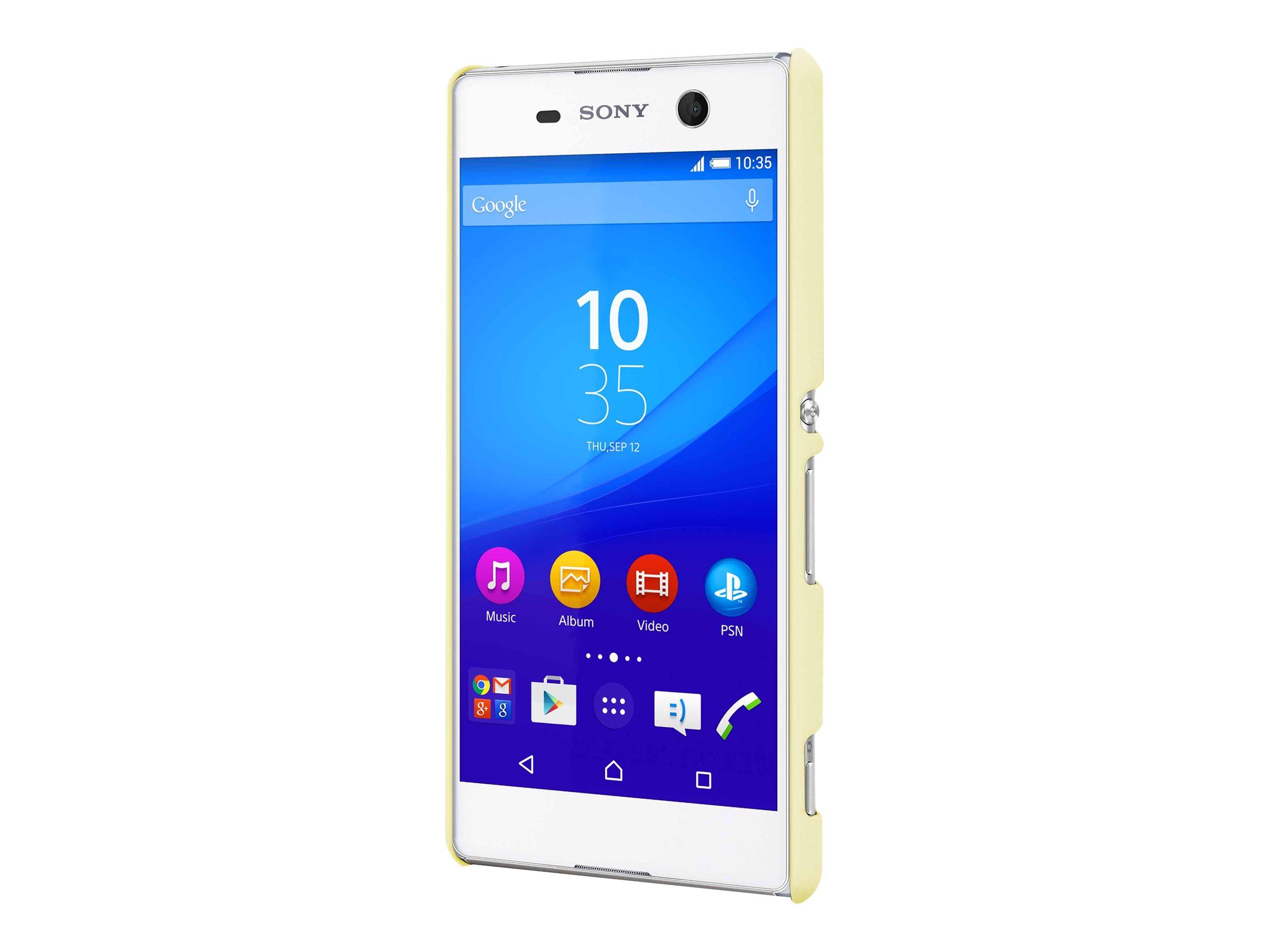 Muvit MFX - Coque de protection pour Sony XPERIA M5 - jaune clair
