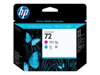 HP 72 - Cyan, magenta - printhead