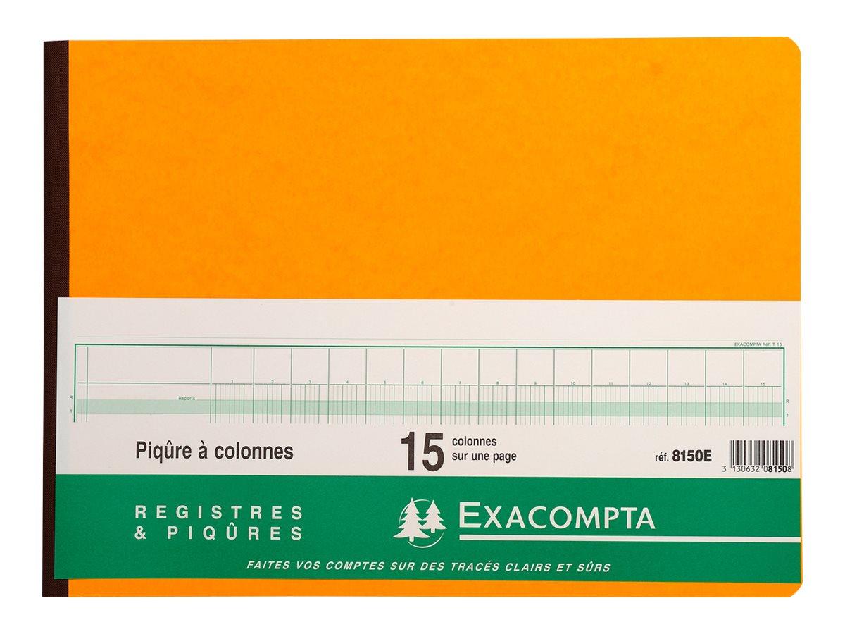Exacompta - Registre - 80 pages - 15 colonnes - 280 x 380 mm - paysage