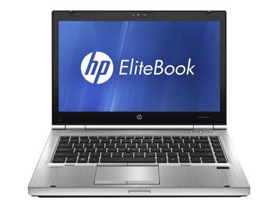 """HP EliteBook 8460p - Core i7 2620M / 2.7 GHz - Win 7 Pro 64-bit - 8 GB RAM - 128 GB SSD - DVD SuperMulti - 14"""" HD anti-glare 1366 x 768 (HD) - Radeon HD 6470M"""