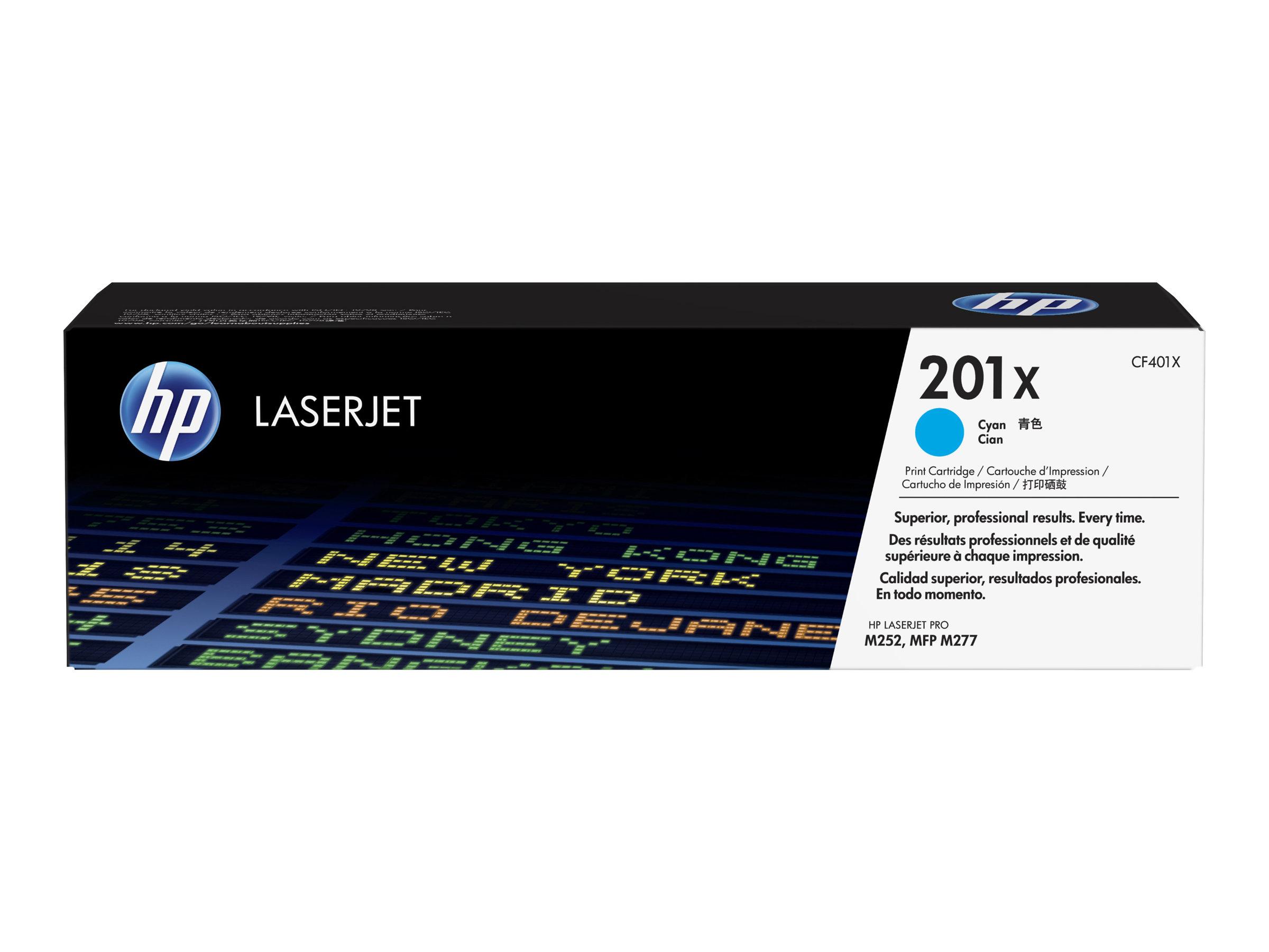 HP 201X - à rendement élevé - cyan - originale - LaserJet - cartouche de toner (CF401X)