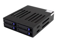 StarTech.com 4 Drive 2.5in Removable SAS SATA Mobile Rack Backplane