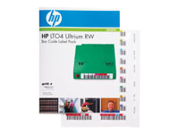 HP Ultrium 4 RW Bar Code Label Pack