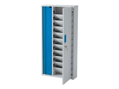 """LapCabby Lyte Wall 10 - Cabinet unit for 10 tablets - lockable - MDF, powder-coated steel - blue - screen size: up to 11"""" - wall-mountable"""