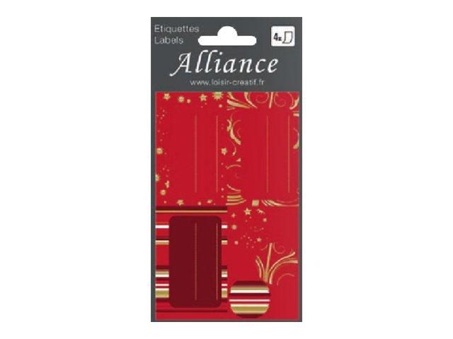 Clairefontaine Alliance Golden winter - étiquette cadeau - 4 feuille(s)