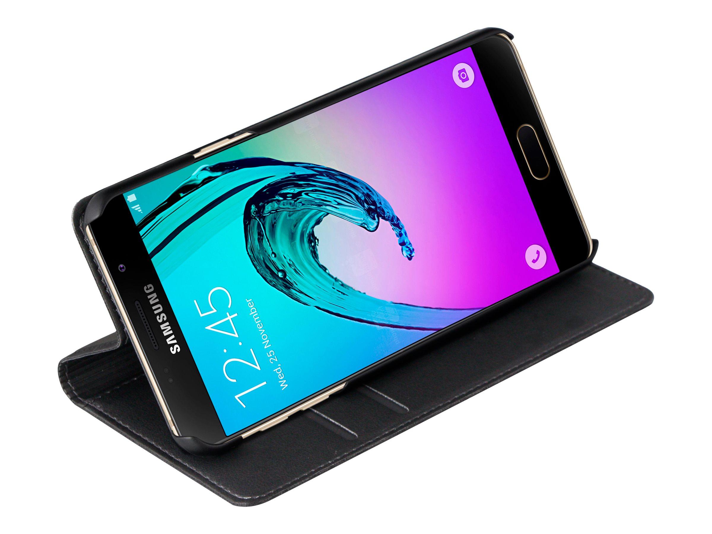 Muvit Folio Stand - Protection à rabat pour Samsung Galaxy A3 - noir