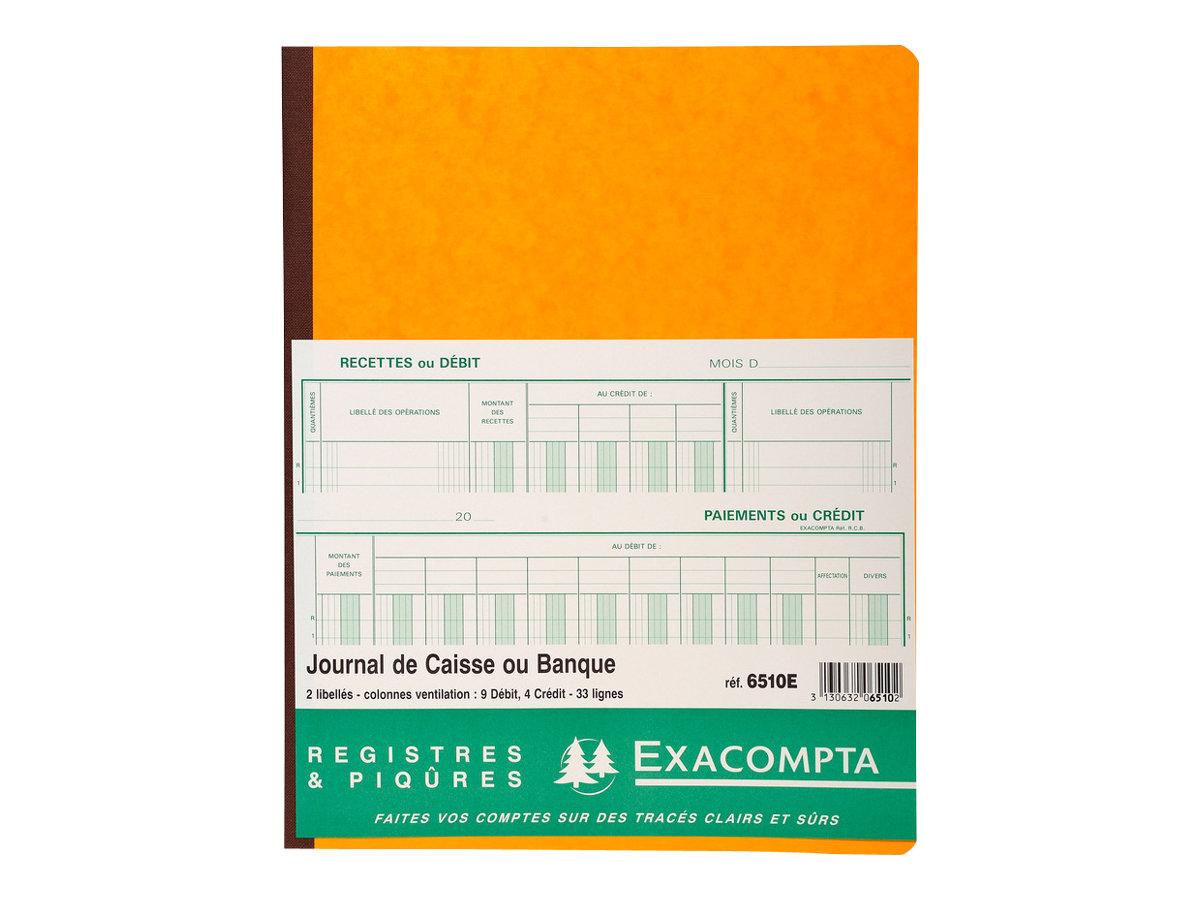 Exacompta - Livre de comptes - 80 pages - 13 colonnes - 320 x 250 mm