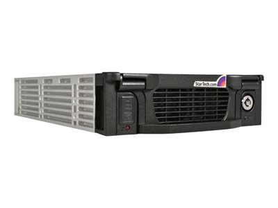 startech.com black aluminum 5.25in professional sata mobile rack