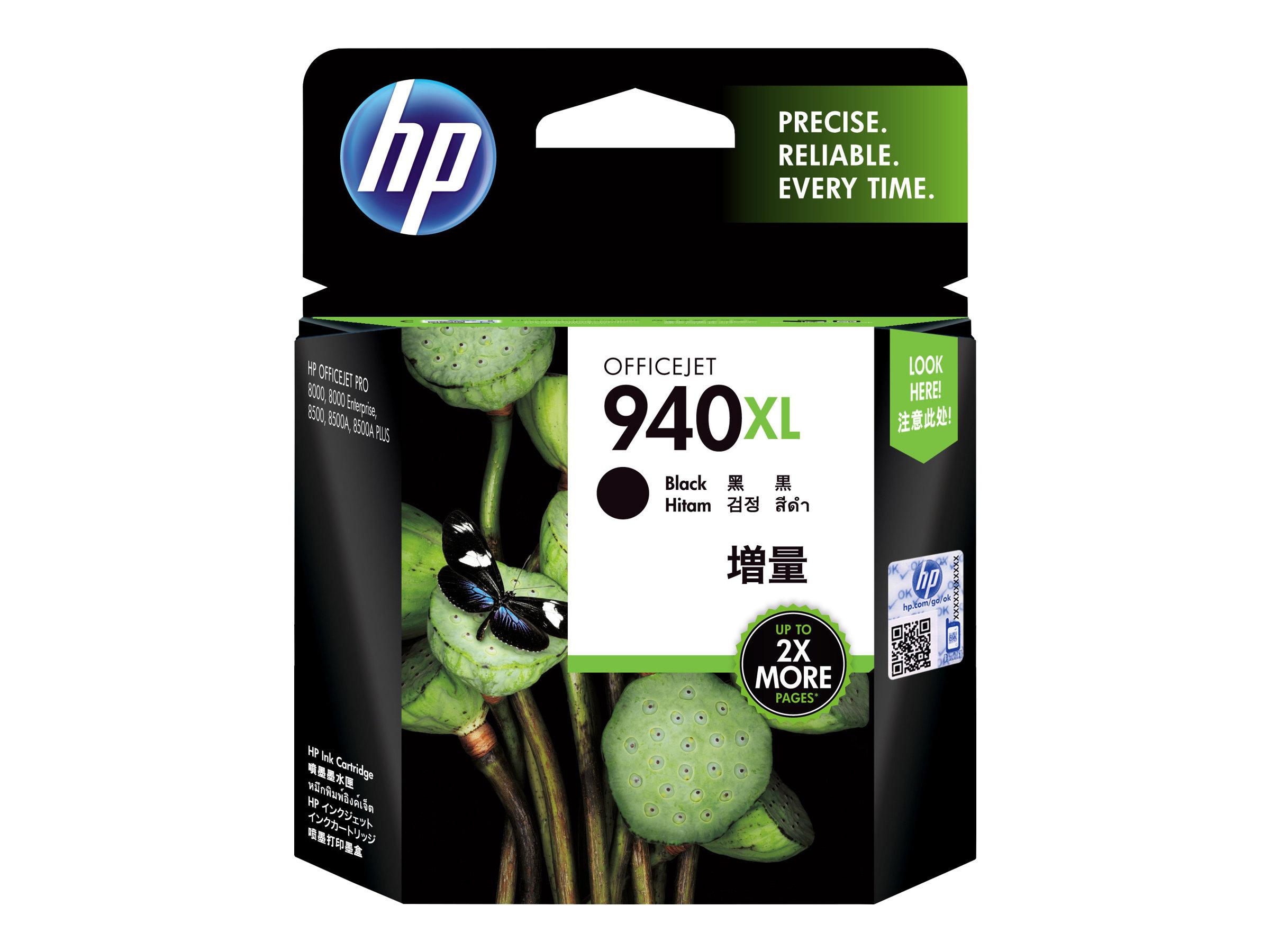 HP 940XL - à rendement élevé - noir - originale - Officejet - cartouche d'encre