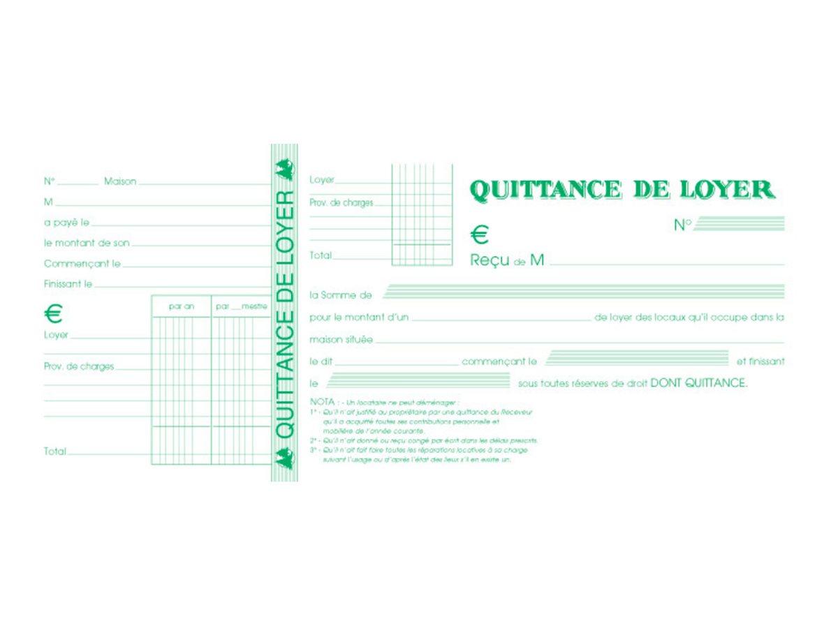 Exacompta - carnet de quittances de loyer