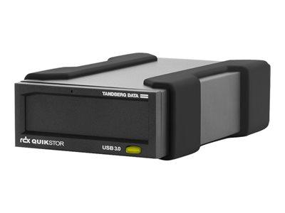 Tandberg RDX QuikStor - Disková jednotka - RDX - SuperSpeed USB 3.0 - externí - s kazeta 500 GB