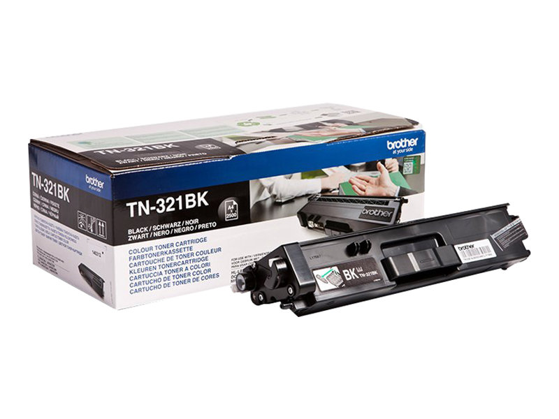 Brother TN321BK - noir - originale - cartouche de toner