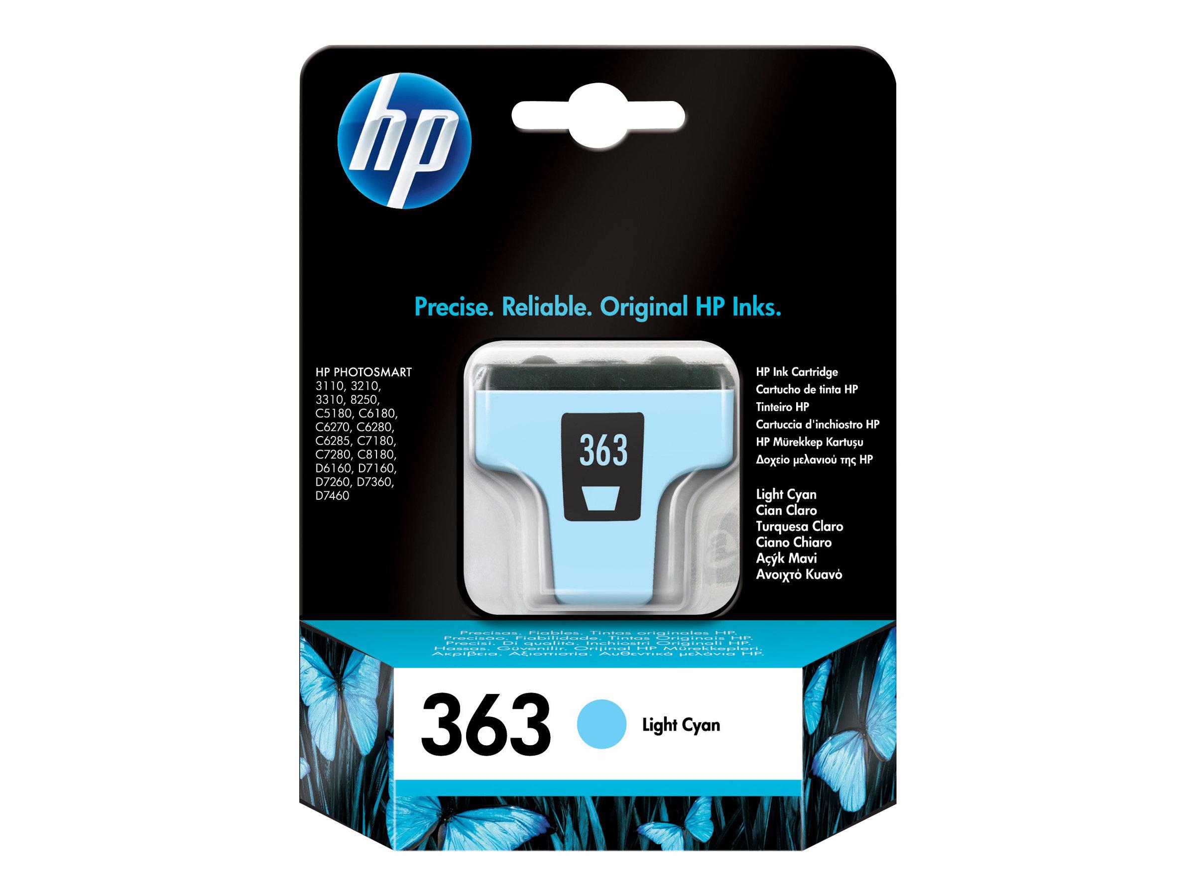 HP 363 - cyan clair - originale - cartouche d'encre