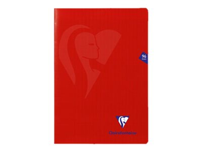 Clairefontaine MIMESYS - Cahier - A4 - 21 x 29,7 cm - 48 feuilles / 96 pages - Seyès - rouge