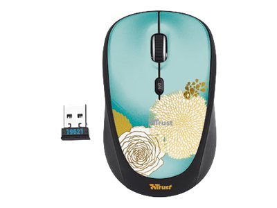 Image of Trust Wireless Mouse Yvi - mouse - 2.4 GHz - flower