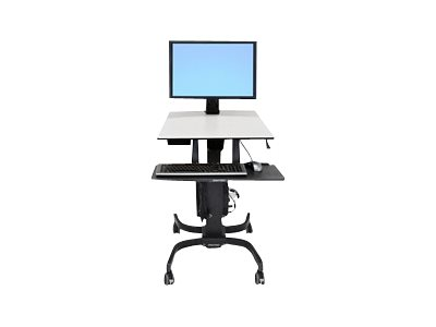 Ergotron WorkFit-C Single HD Sit-Stand Workstation - Vozík pro LCD displej / klávesnice / myš / CPU - šedá, černá - velikost obrazovky: 30