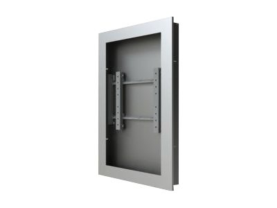 "Peerless-AV Wall Kiosk Enclosure KIP640-S - Mounting kit ( equipment enclosure ) for LCD / plasma panel - silver powder coat - screen size: 40"" - in-wall mounted"