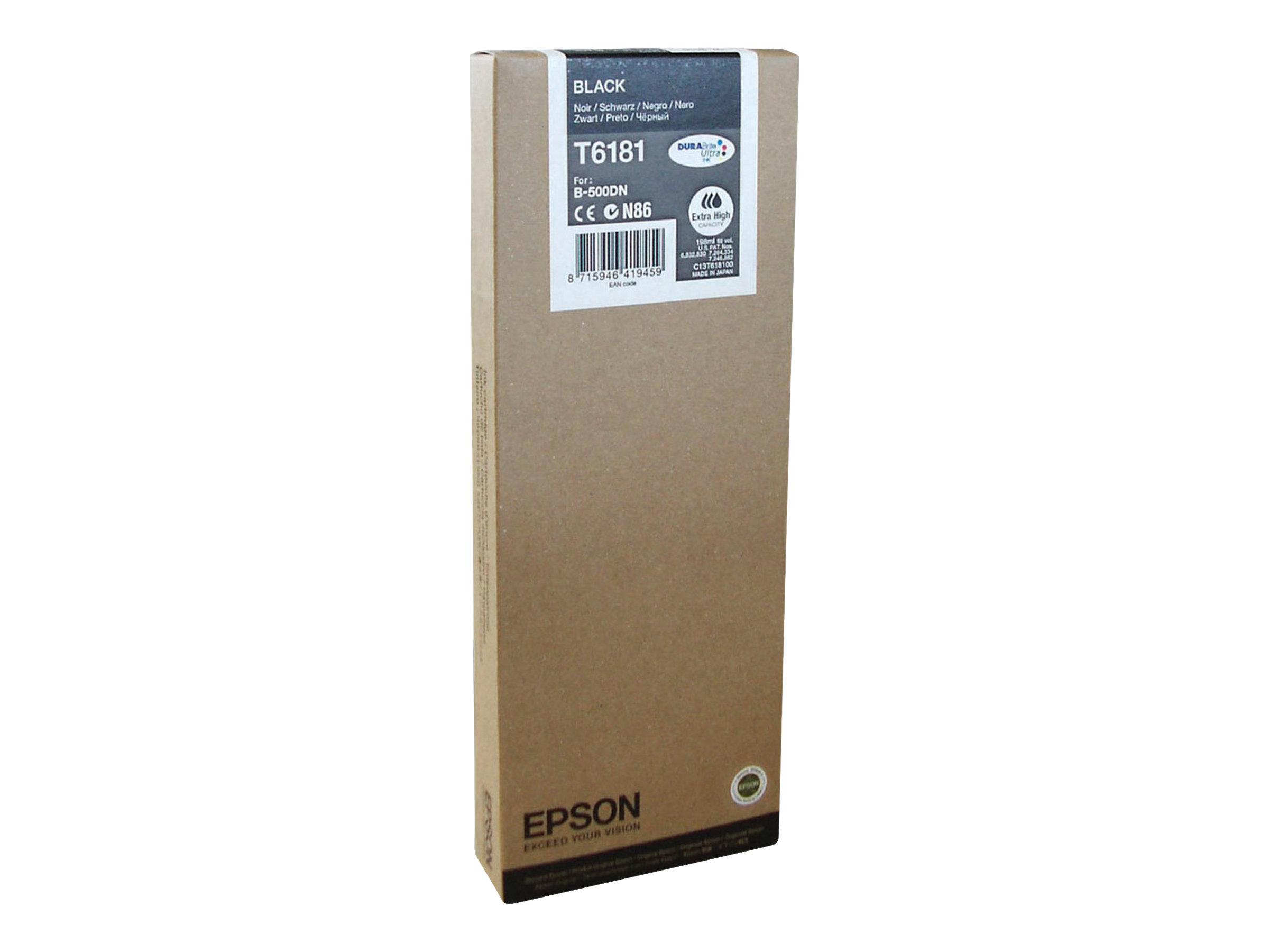 Epson T6181 - à rendement élevé - noire - originale - cartouche d'encre