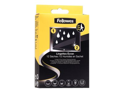 Fellowes Wet and Dry Screen Cleaning Sachet - sachets de nettoyage