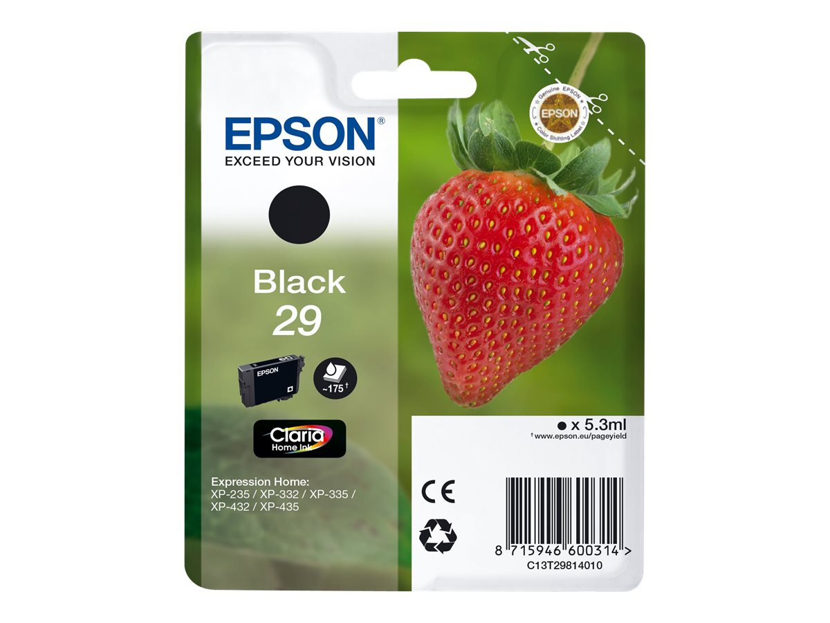 epson t29 fraise noire originale cartouche d 39 encre epson. Black Bedroom Furniture Sets. Home Design Ideas