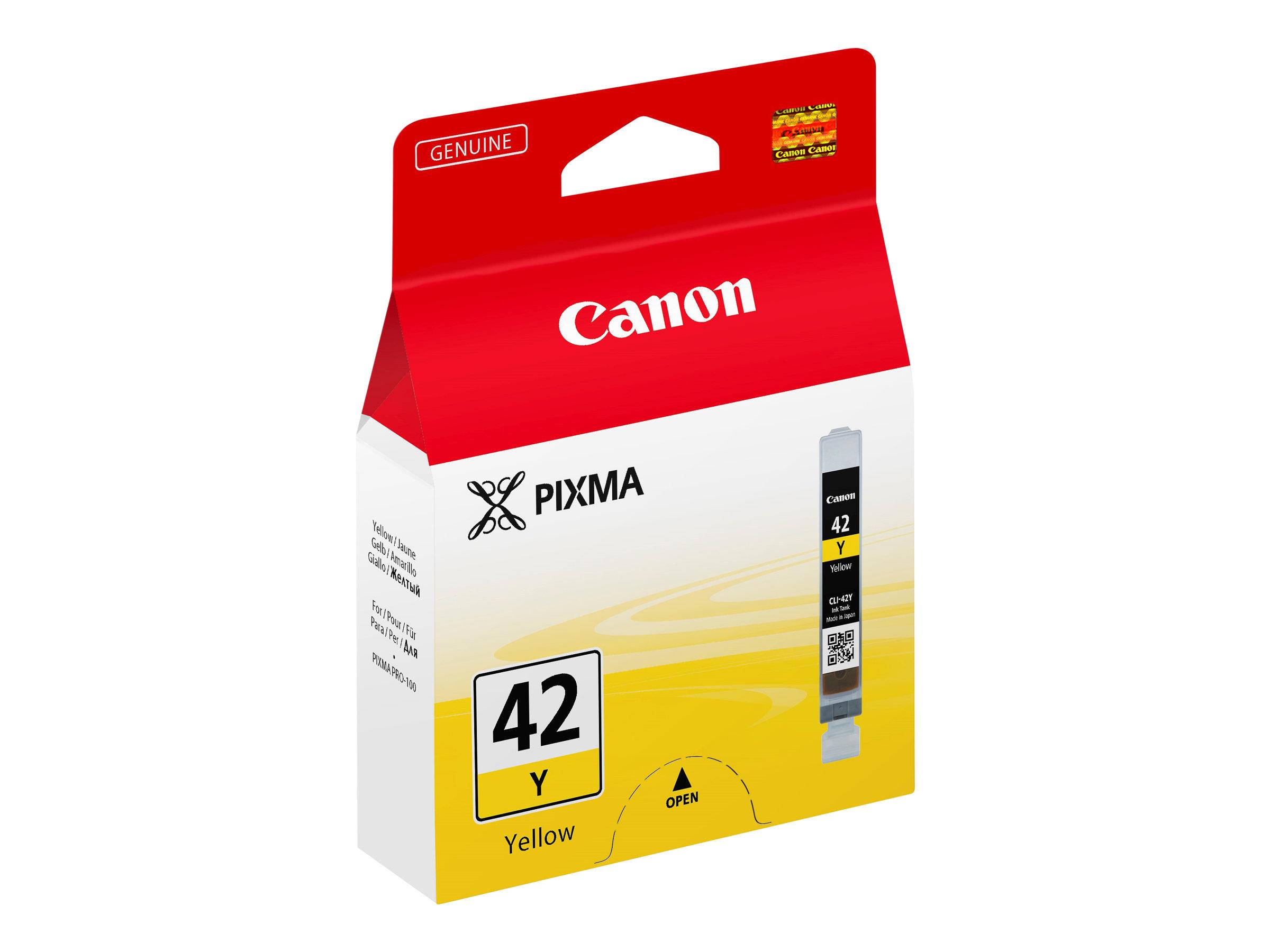 Canon CLI-42Y - jaune - encre à colorants - originale - réservoir d'encre