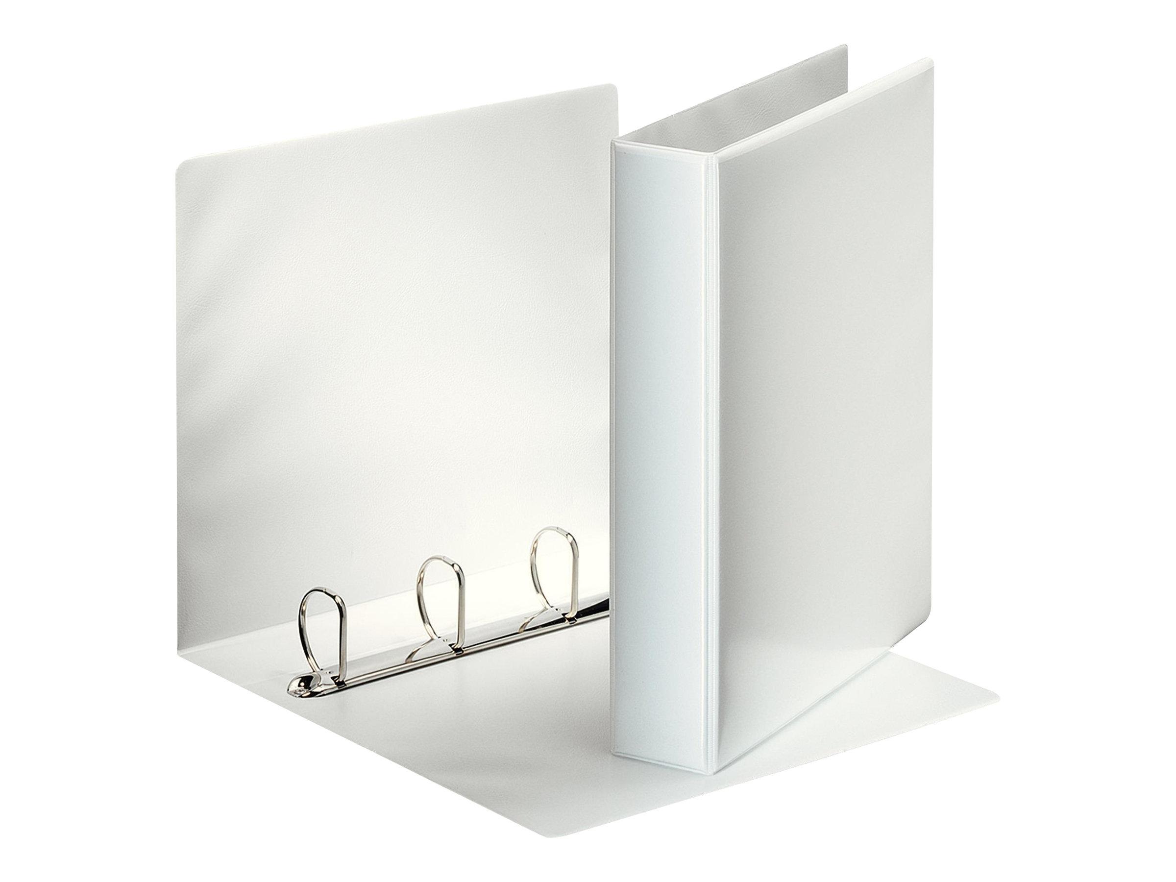 Esselte ESSENTIALS - Classeur à anneaux personnalisable - 63 mm - A4 - pour 400 feuilles - blanc