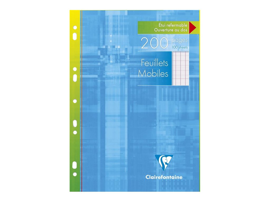 Clairefontaine - A4 - Feuillets mobiles - 21 x 29,7 - 200 pages - Grands carreaux