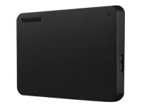 Toshiba Canvio Basics Harddisk 500 GB ekstern (bærbar) USB 3.0 sort