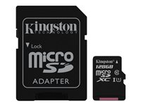 Kingston Canvas Select - Tarjeta de memoria flash (adaptador microSDXC a SD Incluido) - 128 GB