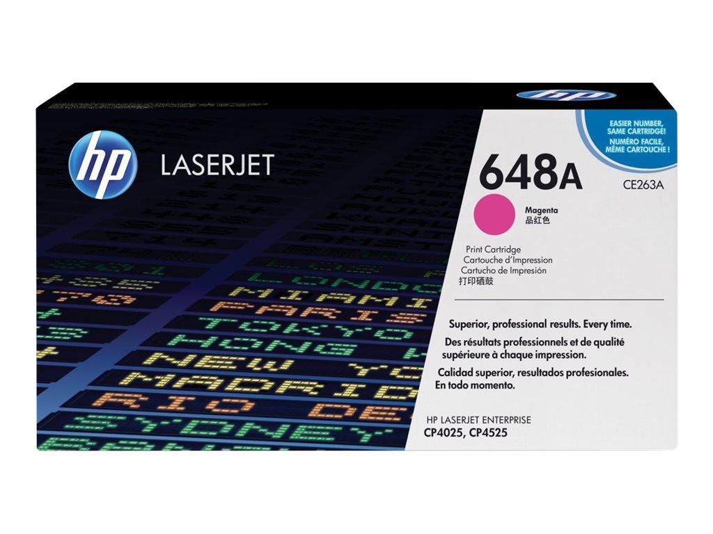 HP 648A - magenta - original - LaserJet - cartouche de toner ( CE263A )