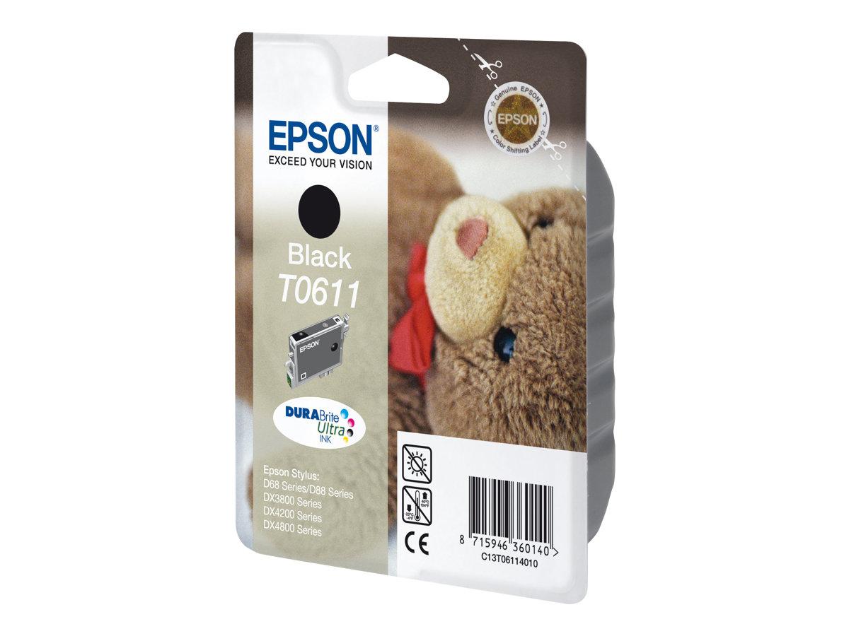 Epson T0611 - ourson - noir - originale - cartouche d'encre