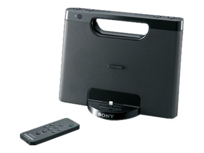 Image of Sony RDP-M7iPN - speaker dock - with Apple Lightning cradle - for portable use