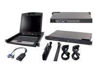 APC 2X1X16 IP KVM with APC 17 Inch Rack LCD and USB VM Server Module Bundle
