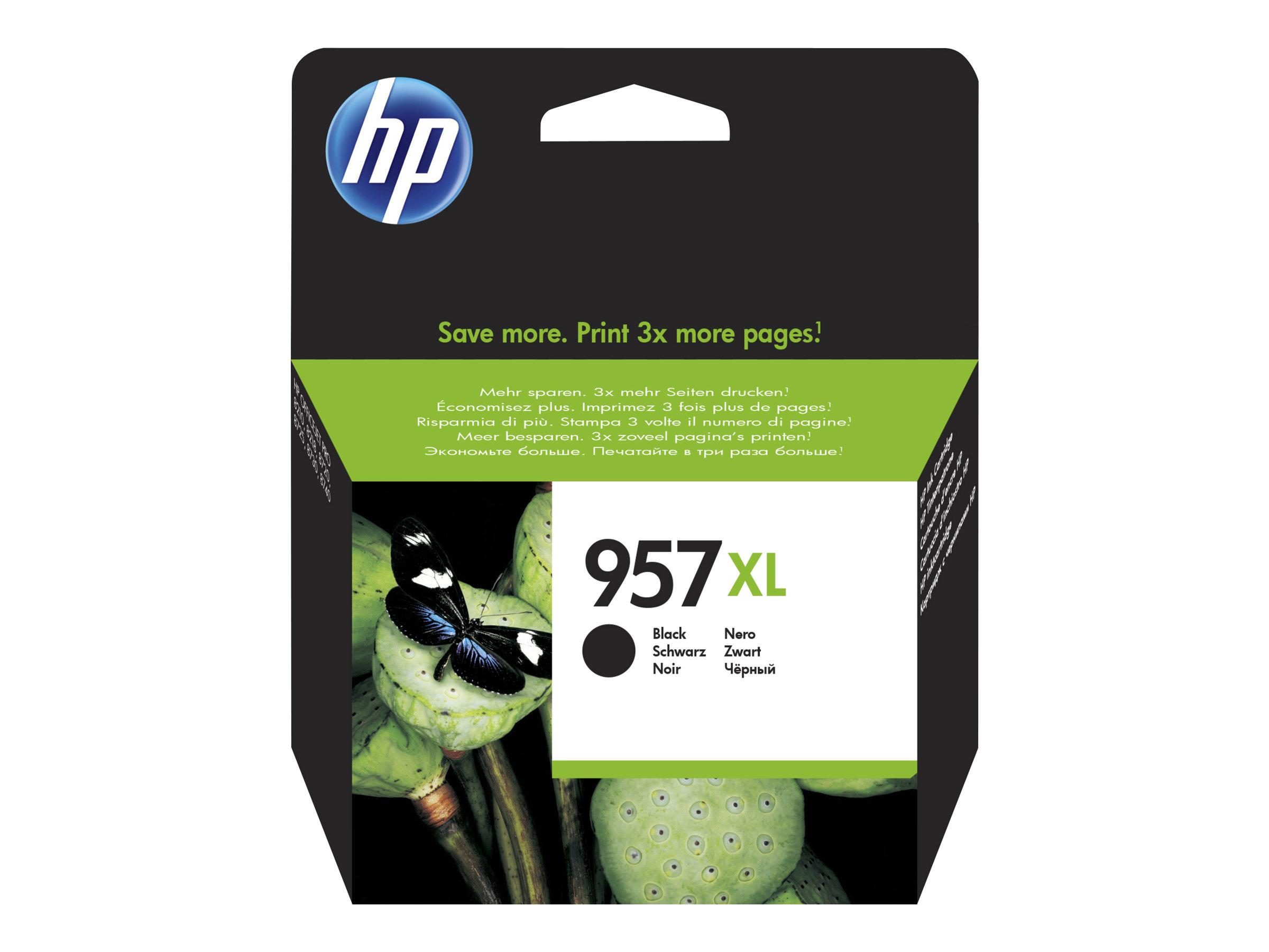 HP 957XL - à rendement extrêmement élevé - noir - originale - cartouche d'encre