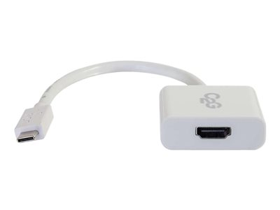C2G USB 3.1 USB-C To HDMI Audio/Video Adapter - Externí video adaptér - USB 3.1 - HDMI - bílá