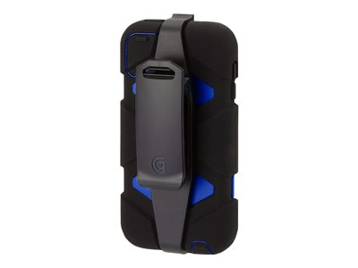 Griffin Survivor - Protective case for player - silicone, polycarbonate - black, blue - for Apple iPod touch (5G)