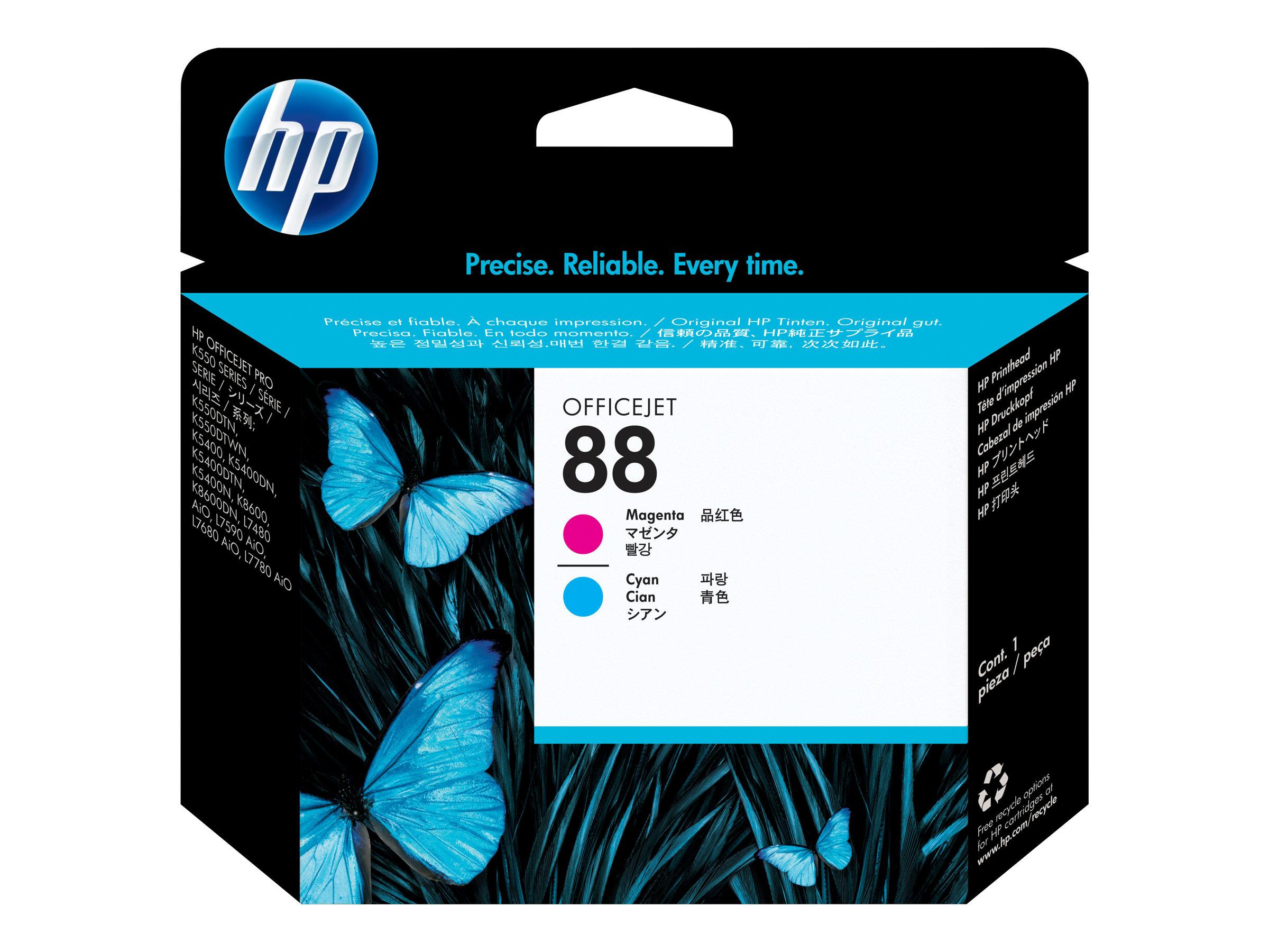 HP 88 - cyan, magenta - tête d'impression