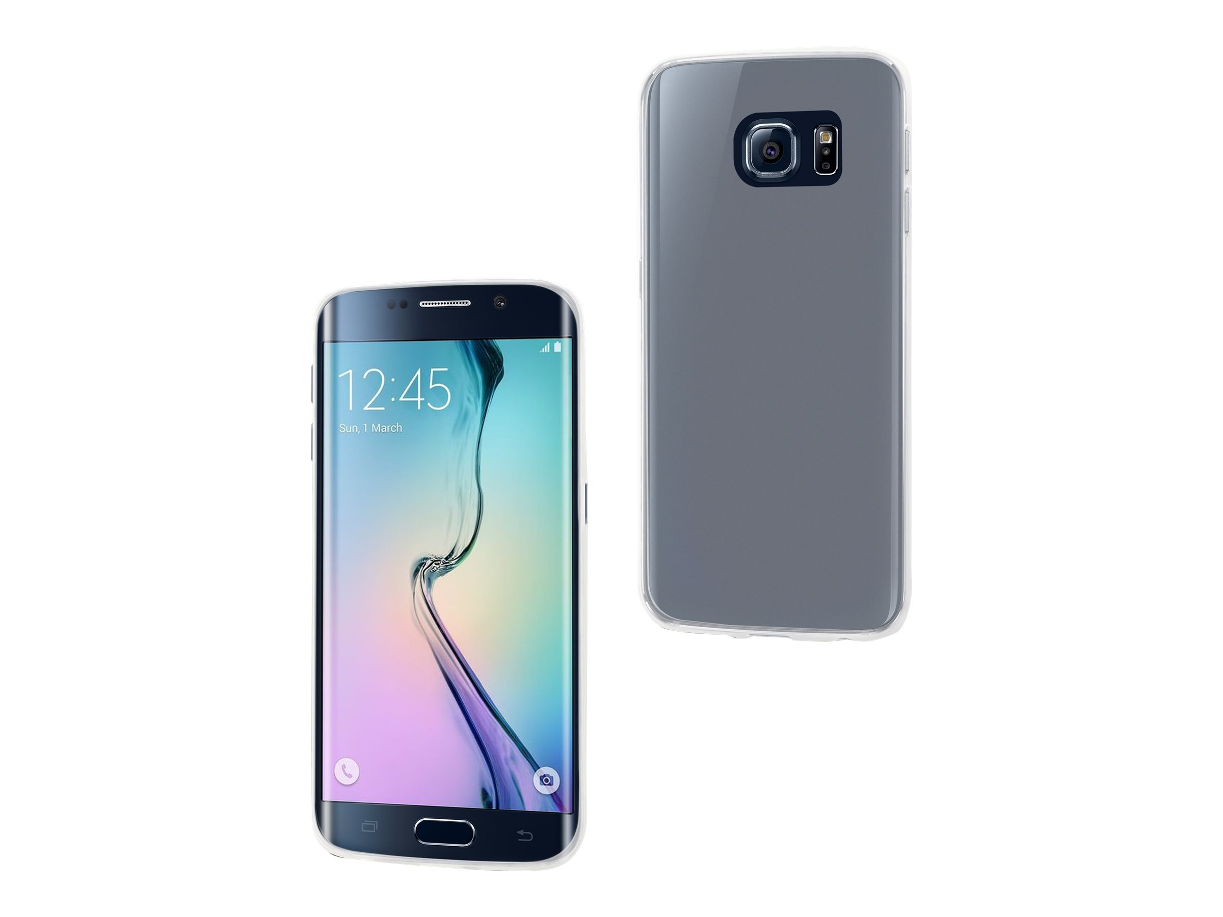 Muvit Customline thinGEL - Coque de protection pour Samsung GALAXY S6 Edge - transparent