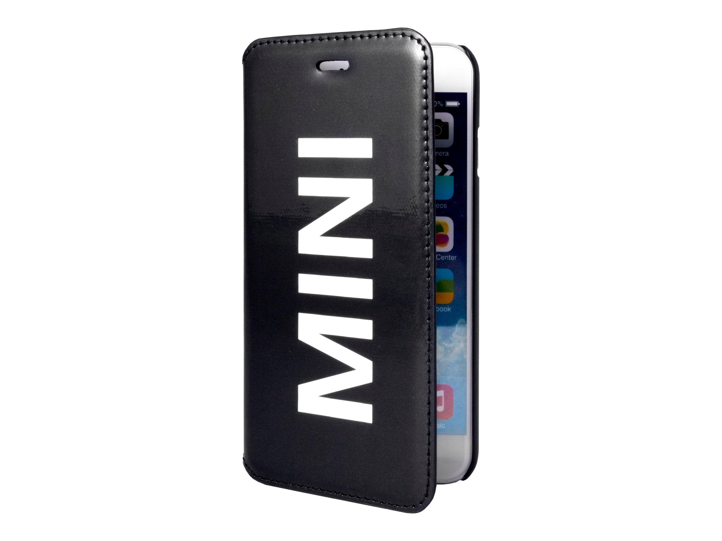 MINI étui Folio - Protection à rabat  pour iPhone 6 Plus - vinyle noir