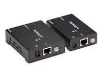 StarTech.com Juego Kit Extensor HDBaseT HDMI por Cable Ethernet UTP Cat5 Cat6 RJ45 Adaptador POC Power over Cable - 70m - Alargador para vídeo/audio