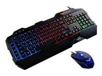 Havit HV-KB558CM Tastatur og mus-sæt bagbelyst USB Nordisk sort