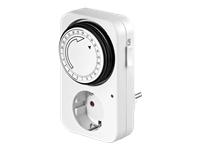 goobay Analogue timer Automatisk strøm kontakt AC 230 V hvid